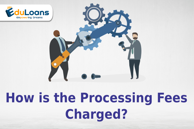What is the processing fee for education loan?