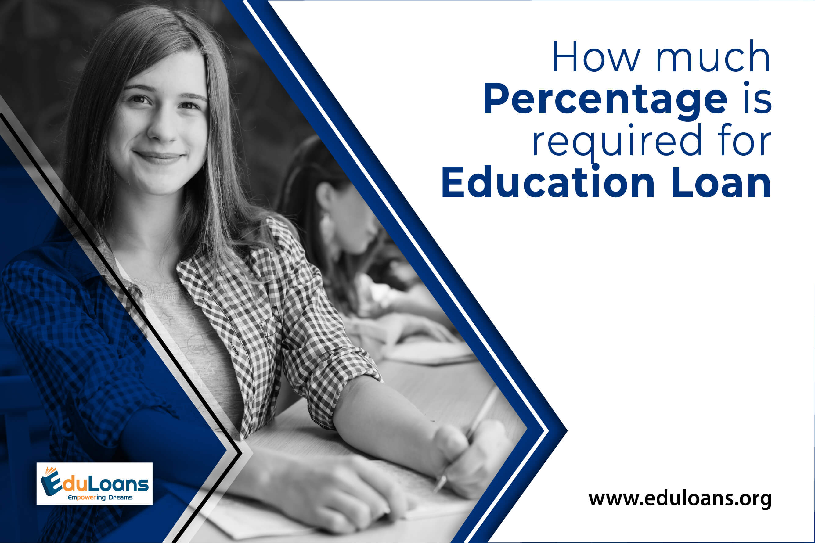 How much percentage is required for education loan?