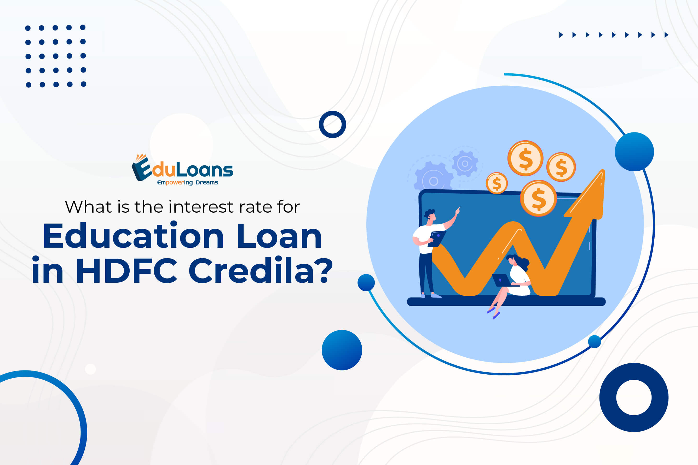 What is the interest rate for education loan in HDFC Credila?